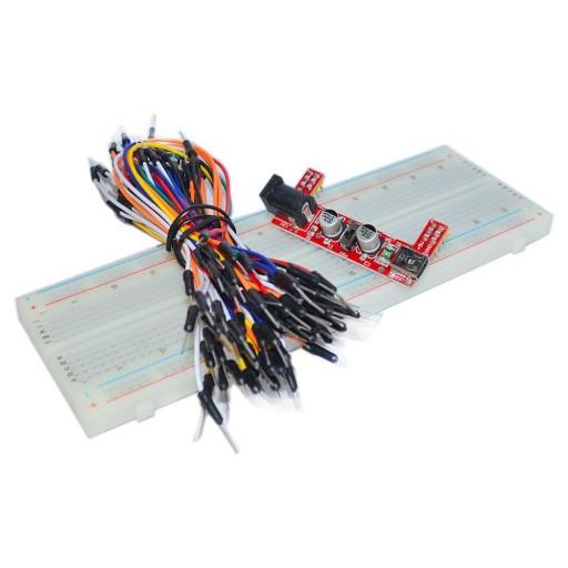 set breadboard + modul dc + 65 conectori