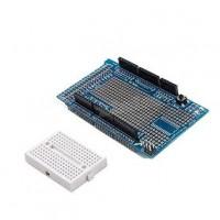 Protoshield Arduino MEGA cu breadboard
