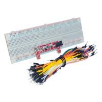 Set Breadboard 830 + Modul DC + 65 conectori  colorati